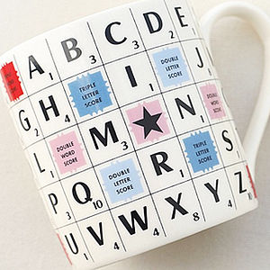 Scrabble Mug - crockery & chinaware