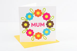 Mum Flower Greeting Card - home sale