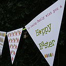Personalised Easter Card Bunting