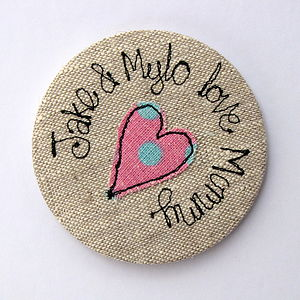 Personalised 'Love Mummy' Handbag Mirror - for new mothers