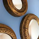 Set Of Three Convex Mirrors