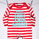 Personalised 'This Much' Stripe Romper