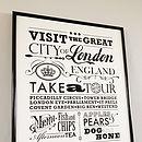 'Visit London' Vintage Style Print