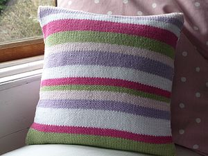 Handknitted 'Stripe' Cushion - cushions
