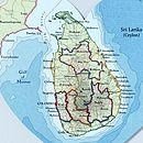 Sri Lanka map heart print detail