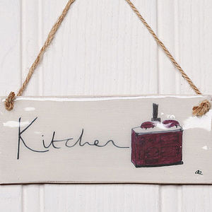 Handmade 'Kitchen' Earthenware Sign
