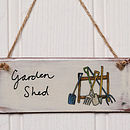 Handmade 'Garden Shed' Earthenware Sign