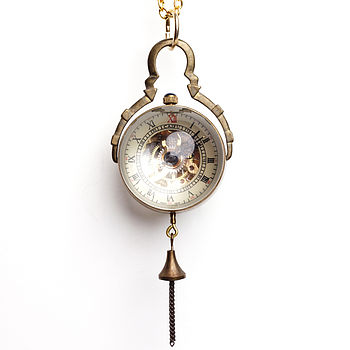 Mechanical Ball Pocket Watch Necklace