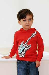 Boys Guitar Hoodie - gifts for children