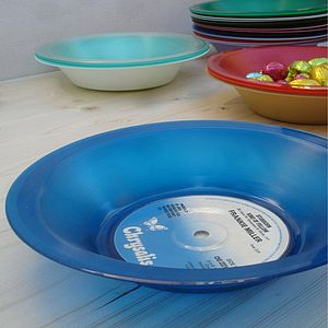 Coloured Vinyl Record Bowls