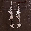 Birdie Earrings in Silver