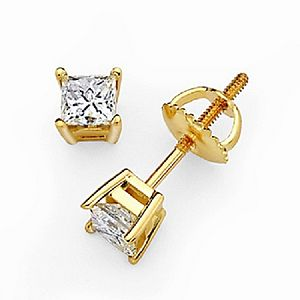 Handmade Diamond Stud Earrings In 18ct Gold - earrings
