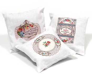 Set Of Three Lavender Cushions