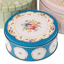 Decorative Floral Cake Tin Set