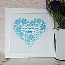 Personalised Wedding Heart Print