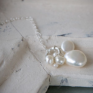 Pearl Cluster Necklace - gifts for mothers