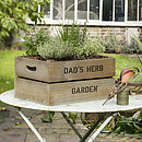 Personalised Crate - Make Your Own Allotment