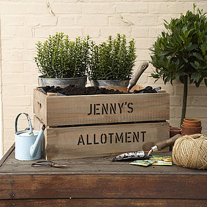 Personalised Crate - Make Your Own Allotment - gardener