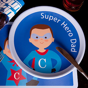 Personalised Super Dad Plate
