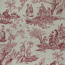 red on cream toile de joie
