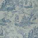 blue on white toile de joie