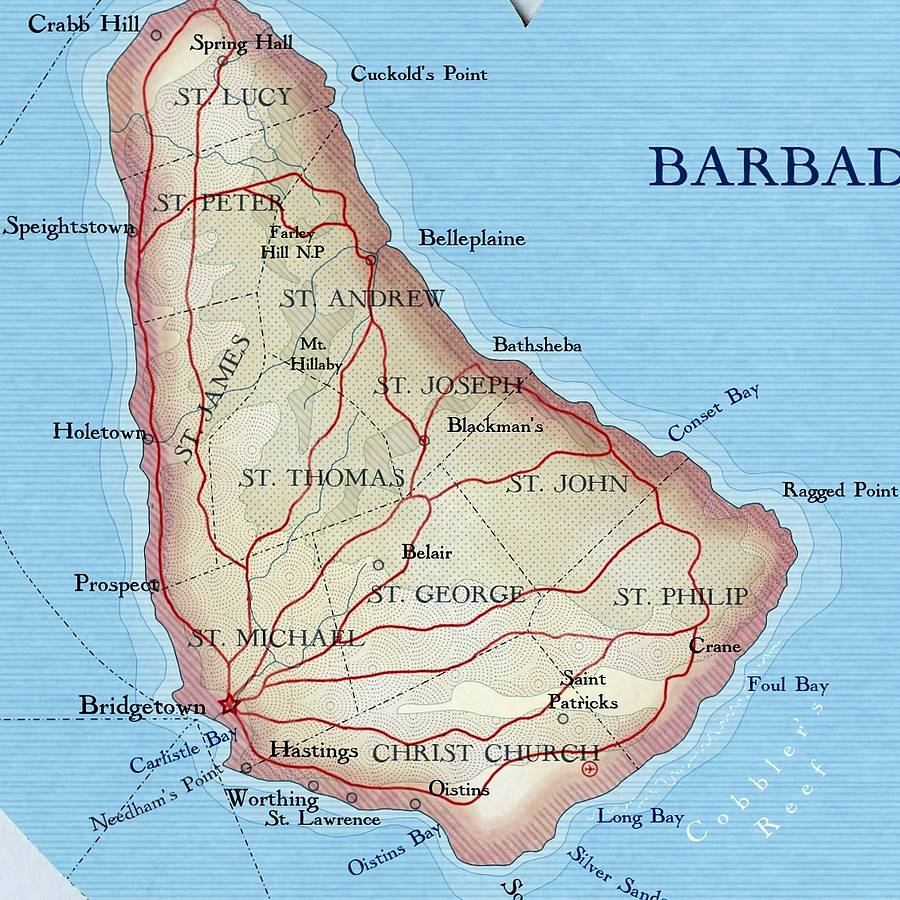 barbados map heart print by bombus off the peg notonthehighstreetcom