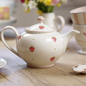 Hand Painted Round Teapot - tea & coffee cosies