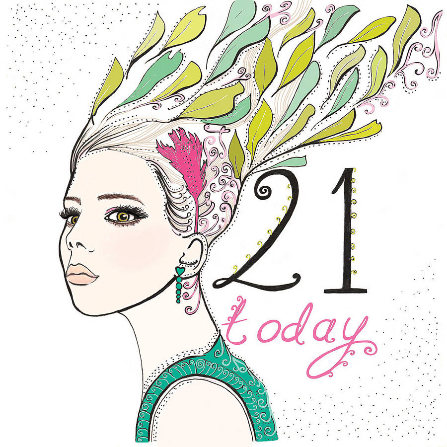 '21 Today' 21st Birthday Card By Fay's Studio