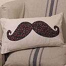 Floral Moustache Cushion