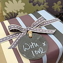 Slate Round Plain Gift Tag