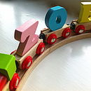 Personalised Bright Wooden Alphabet Train