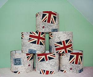 Handmade Fabric Union Jack Lampshade - lighting
