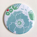 Flower Pocket Mirror