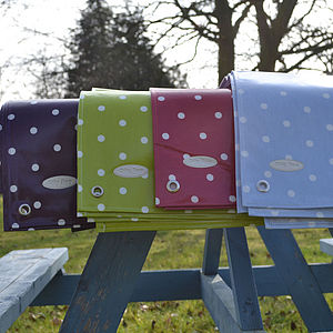 Spotty Oilcloth Tablecloth - bed, bath & table linen