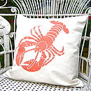 Screen Printed Lobster Cushion