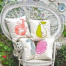 Screen Printed Pear Cushion