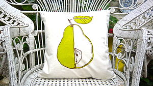 Screen Printed Pear Cushion - cushions