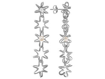 Silver Nuvola Perla Earrings