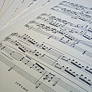 sheet music vintage wedding crafts