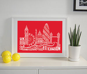 London Skyline Typography Print - posters & prints