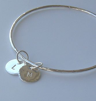 20b6d6061c1 personalised silver charms bangle by anne reeves jewellery ...