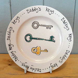 'Daddy's Keys' Plate - view all gifts for him