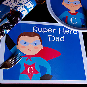 Personalised Super Dad Placemat
