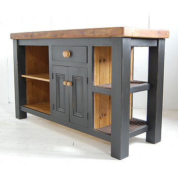 Reclaimed Wood Kitchen Island Cupboard