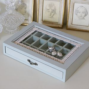 Vintage Inspired Jewellery Box - jewellery storage & trinket boxes