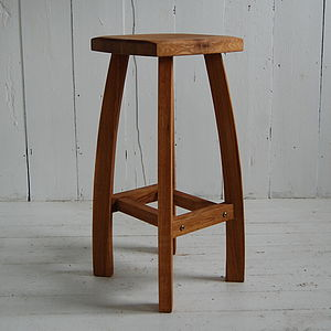Curved Oak Bar Stool - kitchen