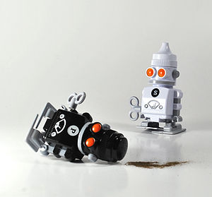 Salt And Pepper Bots - salt & pepper pots
