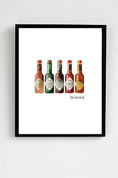Tabasco Pop Art Fine Art Or Canvas Print