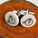 Penny Farthing Earthenware Cufflinks