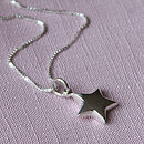 Girl's Sterling Silver Star Necklace